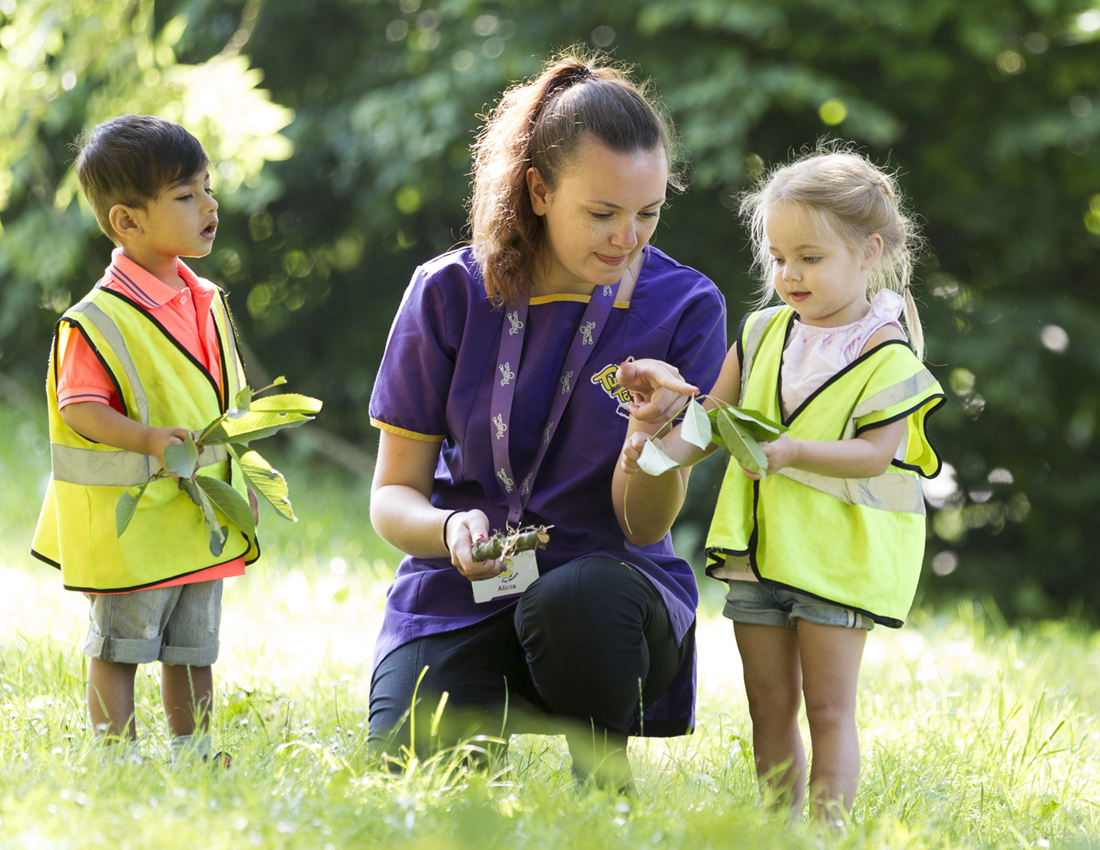 Children learning about nature